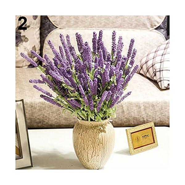 litymitzromq Artificial Flowers Fake Plants, Home Decoration Wedding Silk Flowers High Simulation 12 Pcs Lavender Bouquet Faux Fake Flowers Floral Arrangement