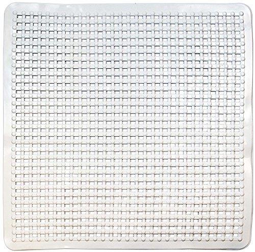 ID Mat Fonds de Douche & Baignoire, 100% PVC, Blanc, 80 x 150 cm