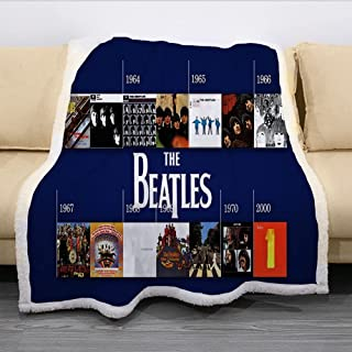 Flannel Throw Blanket - 3D Printing The Beatles Pattern Bed Blankets,Warm and Cosy Soft Blanket,for Bed,Couch,Camping and ...