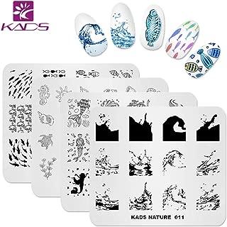 KADS Nail Art Stamp Plate Ocean Sea Mermaid Series Nail stamping plate Template Image Plate Nail Art DIY Decoration Tool