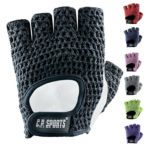 C.P.Sports Trainings Fitness Handschuh Klassik Trainingshandschuhe, Schwarz/Weiß, L/9 = 20-22cm