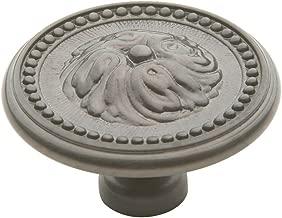 Baldwin 4932.151.BIN Ornamental Design 2-Inch Diameter Cabinet Knob, Antique Nickel