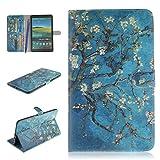Galaxy Tab S 8.4 Hülle,Careynoce PU Leder Abdeckung Stand Flip Schutzhülle Hülle - mit Automatischem Schlaf Funktion Und Wach Funktion für Samsung Galaxy Tab S SM-T700/SM-T705 - Aprikose Baum
