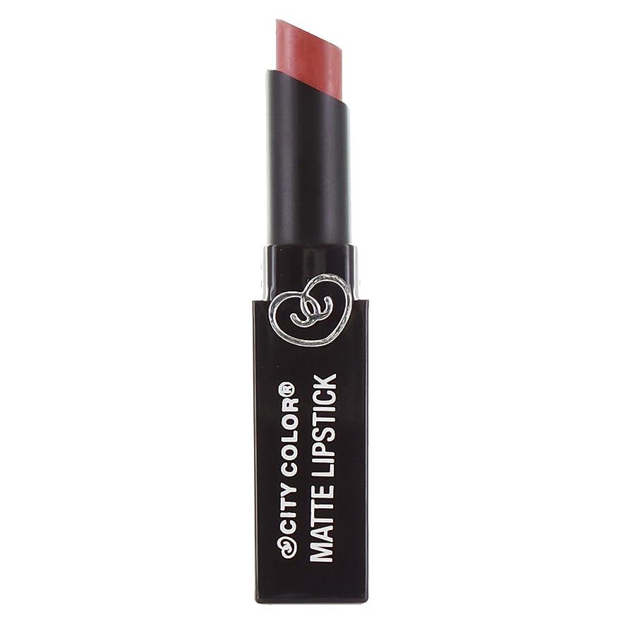 ルーム餌血色の良いCITY COLOR Matte Lipstick L0050A - Natural (並行輸入品)