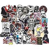 LYDP 50 pegatinas impermeables de Star Wars, para maleta, monopatín, guitarra, dibujos animados, graffiti, teléfono y...