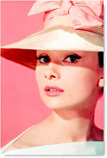 Funny Ugly Christmas Sweater Pink Hat Poster Print Art Audrey Hepburn Printed Art Housewarming Decor Gift Cute Hepburn Poster 8