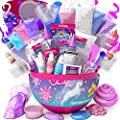 GirlZone Unicorn Egg Sparkly Surprise Slime Kit for Kids, Everything in One Egg to Create Lots of Different Slimes! Great Gift for Girls.