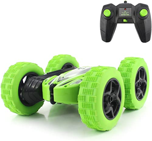 Fisca RC Car Remote Control Stunt Car, 4WD Monster Truck Double Sided Rotating Tumbling - 2.4GHz High Speed Rock Craw...