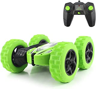 Fisca RC Car Remote Control Stunt Car, 4WD Monster Truck Double Sided Rotating Tumbling - 2.4GHz High Speed Rock Crawler Vehicle with Headlights for Kids Age 4, 5, 6, 7, 8, 9-12 Year Old
