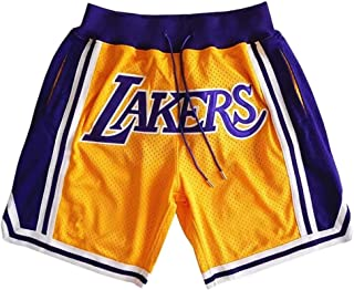 Men's Basketball Shorts, Suitable for The Lakers James Game Shorts, Real Court Shorts. Breathable Fabric