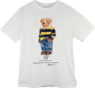 (ポロ ラルフローレン) POLO Ralph Lauren ボーイズ ポロベア 50周年 クルーネック Tシャツ ホワイト [並行輸入品]