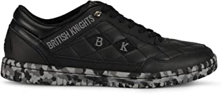 Quilts Men's Quilted Leather Oxford Sneaker Black