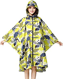 Yxsd Raincoat Women's Waterproof Jacket Raincoat Hooded Poncho Suit Motorcycle Raincoat Set Protective Equipment Work Outdoor Activities (Color : Yellow, Size : XXL)