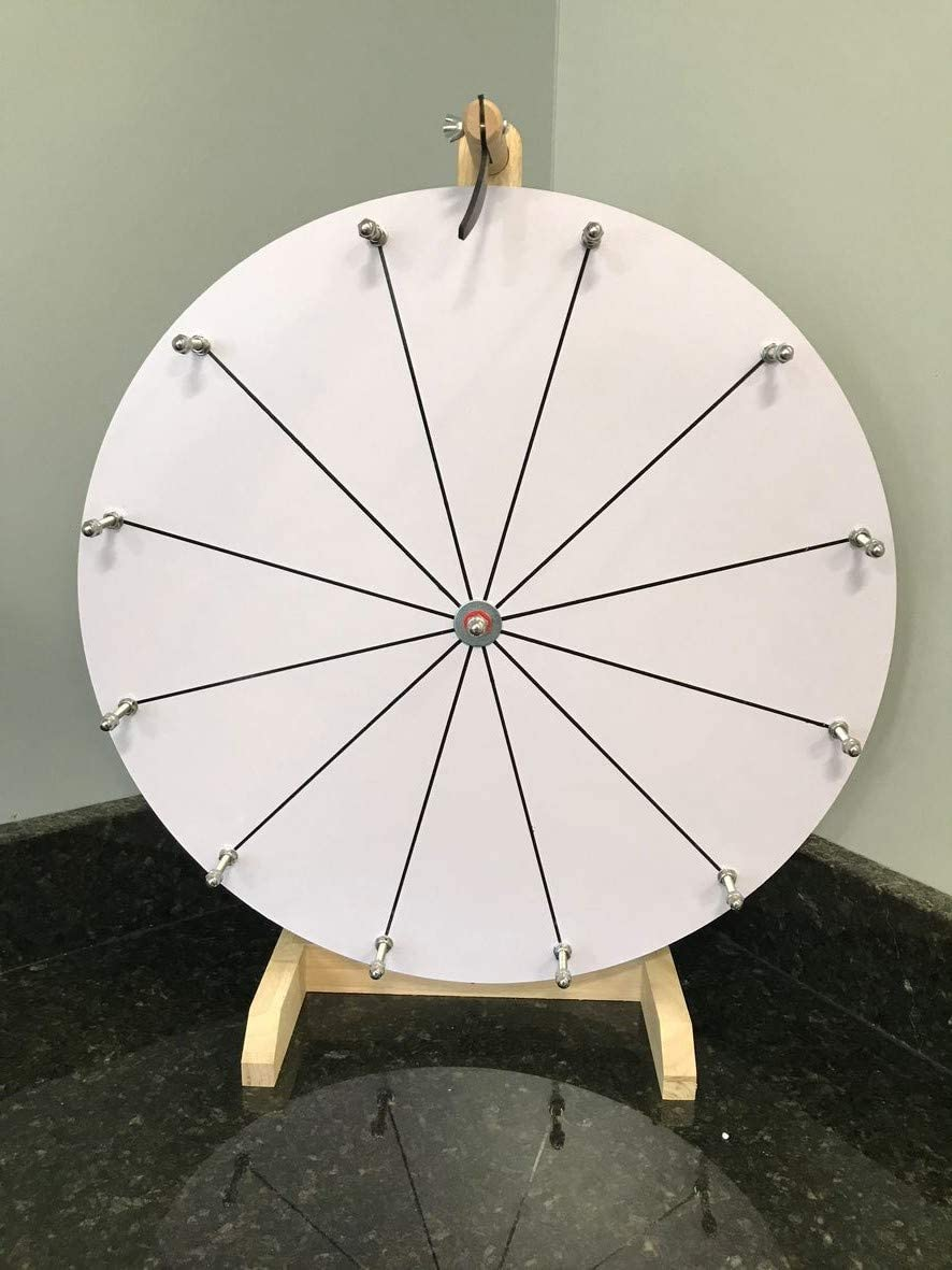 CHWAREHOUSE WOODWELL service 20-Inch DIY Dry Slots 12 Erase Selling rankings Spin Wheel