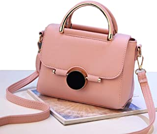 Women Bags Brand Female Handbag Crossbody Bags Fashion Mini Shoulder Bag for Teenager Girls with Sequined Lock Gifts,Pink,S
