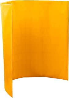 Steiner 431-4X6 Port-O-Screen Portable Welding Screen with 13-Ounce Flame Retardant Vinyl Laminated Polyester Curtain, Yellow, 4' x 6'
