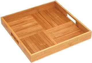 Lipper International 8866 Bamboo Wood Criss-Cross Serving Tray, 15