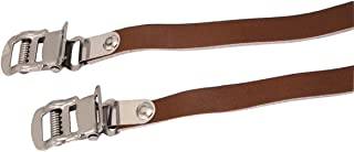 brown leather toe straps