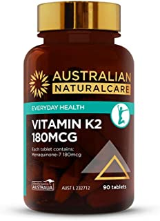 Australian NaturalCare - Everyday Health - 180mcg Vitamin K2 Tablets (90 Count)