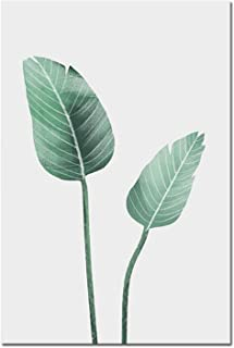 Be fearless Scandinavian Style Watercolor Plant Leaf Nordic Poster Nature Wall Art Canvas Prints Painting Decoration Pictures Home Decor,28x36cm No Frame,Picture 1