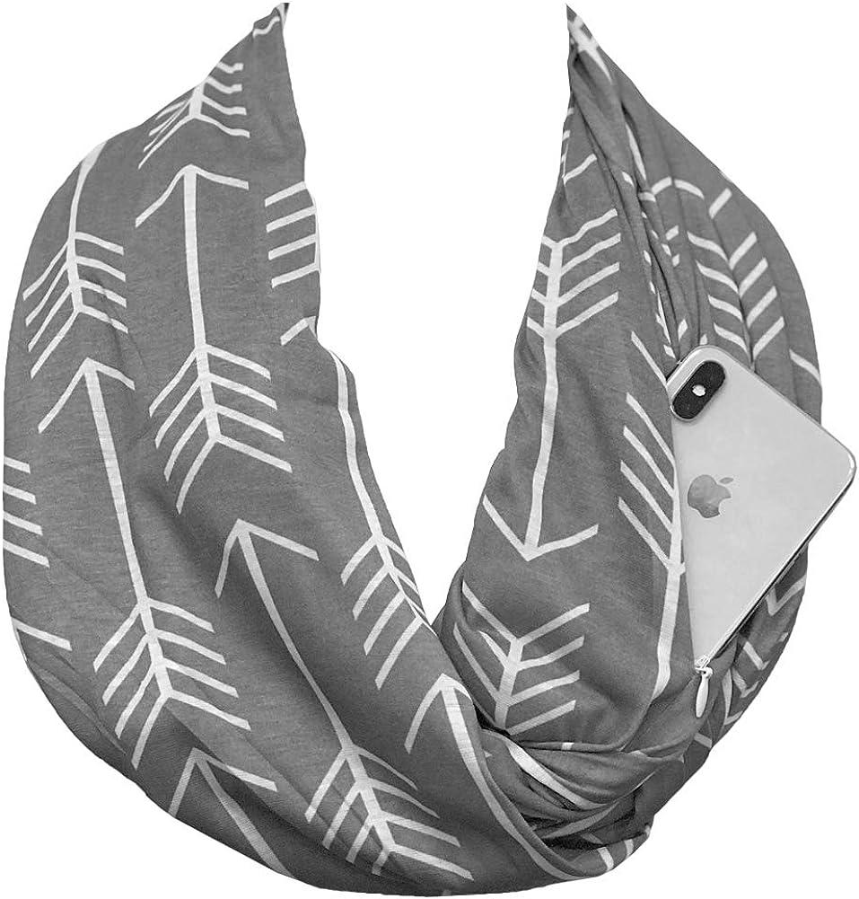 Shop Pop Cheap bargain Fashion - Arrow Pattern Infinity Popular product with Hidden Scarf Zipp