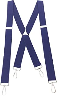 Romanlin Suspenders for Men with Hooks on Belts Heavy Duty Big and Tall Adjustable Braces