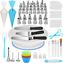 Cake Baking Rotating Turntable Tools Kit with Leakproof Nonstick Springform Cake Pan Set Baking Supplies Accessories for B...
