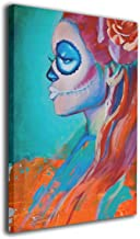Arnold Glenn Day of The Dead, Sugar Skull, Dia De Los Muertos, Mexican Canvas Wall Art Prints Picture Modern Paintings Decorative Giclee Artwork Wall Decor Wood Frame Gallery Wrapped