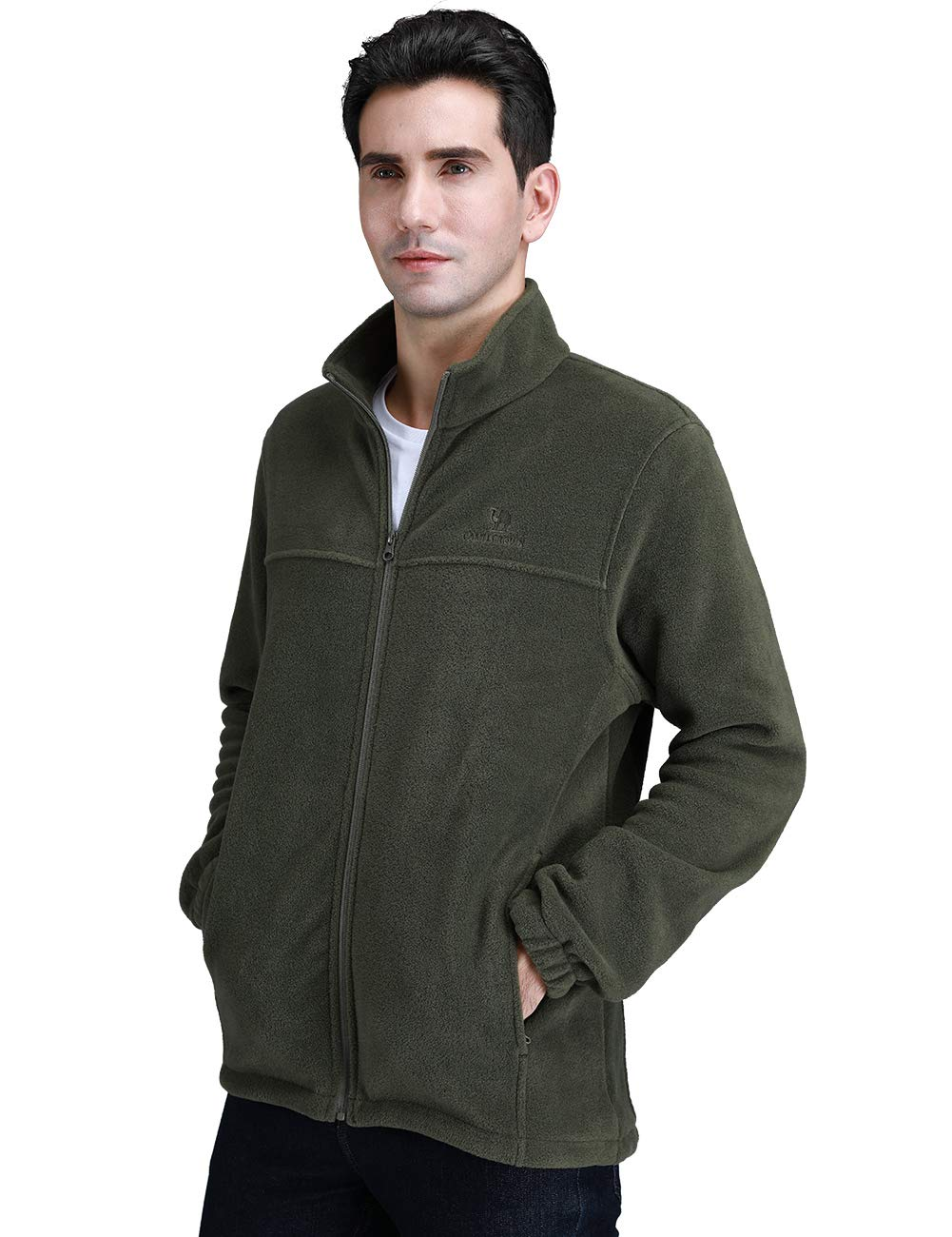 DailyWear Mens Full-Zip Polar Fleece Jacket