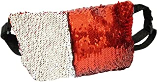 Women's Glitter Reversible Sequins Bag Waist Bag Strap Should Bag Cosmetic Bag
