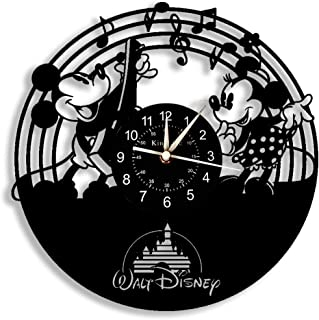 The Disney Mickey and Minnie Mouse Vinyl Wall Clock 12