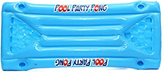 Inflatable Beer Pong Float Table Swimming Pool Raft Lounge PVC Floating Raft with 24 Cup Holders for Pool Party Game