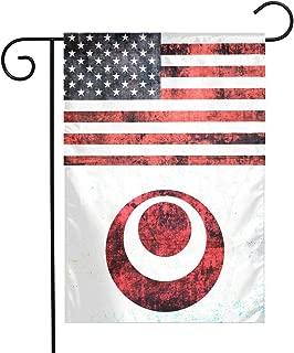 Okinawa American Flag Garden Flag Indoor Polyester For Celebration,Festival,Home,Outdoor,Garden Decorations 12 X 18 Inch