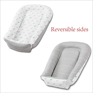 Little Grape Land Baby Lounger and Newborn Nest Sharing Co Sleeping Baby Revisible Bassinet, Cotton/Polyester Blend Quality Crib Mattress for Bedroom and Travel.Size 32x23in,Perfect for 0-24Months.