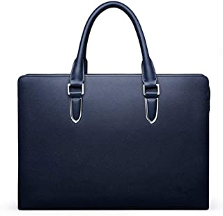 Mens Bag 38 * 6 * 28cm Business Blue Black Computer Bag Waterproof File Package Large Capacity, Waterproof And Wearable, Material Safety And Environmental Protection, High capacity