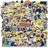 Fancico 100 Pegatinas de Naruto para Portátil, Pegatinas Impermeables para Monopatín, Equipaje, Casco, Guitarra