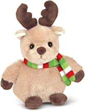 Bearington Bucky Holiday Plush Stuffed Animal Reindeer, 6 inches