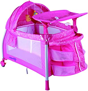 Bed and Playard for Children with Mosquito Net by Babylove Pink 27-992GT