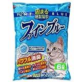 常陸化工 固まる紙製猫砂 ファインブルー 6Lx7個 (ケース販売)