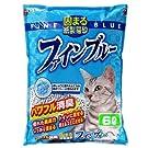 常陸化工 固まる紙製猫砂 ファインブルー 6リットル (x 7) (ケース販売)