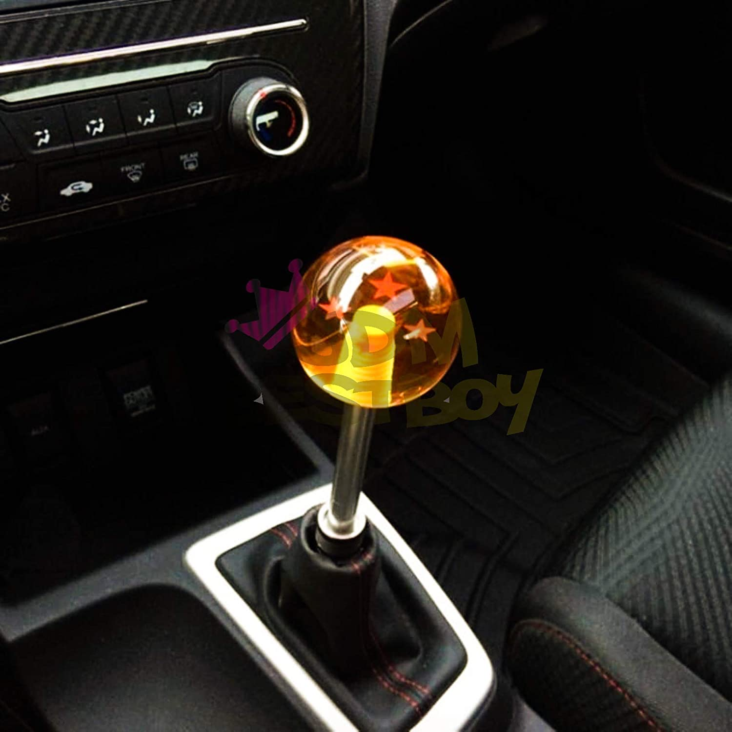 JDMBESTBOY Universal Blue Dragon Ball Z 5 Star 54mm Shift Knob with Adapters Will Fit Most Cars