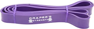 Draper's Strength Heavy Duty Pull Up Assist and Powerlifting Stretch Bands Add Resistance for Stretching, Exercise, and Assisted Pull Ups. Free E-Workout Guide (Single Band) 41-Inch
