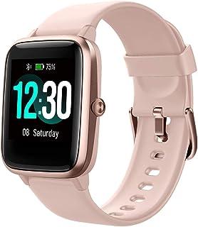 Smartwatch, fitnessarmband, volledig touchscreen, 5ATM waterdicht, dames heren smartwatch voor Android iOS, fitnesshorloge...
