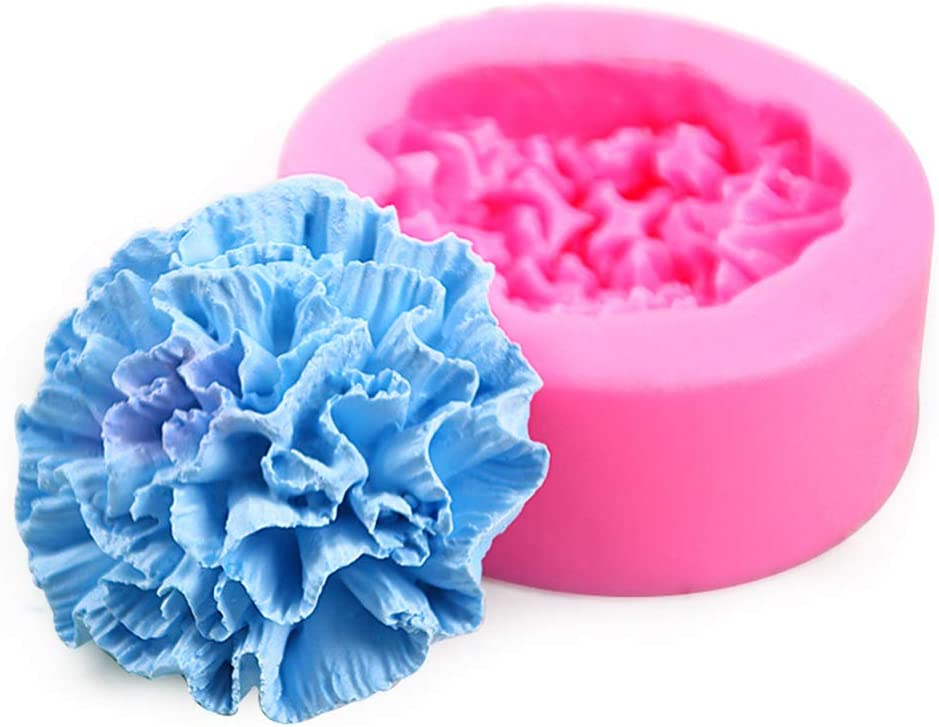 Candle Max 71% OFF Molds 3D Carnations Flower Silicone Wax Mold A Bee Great interest Soap