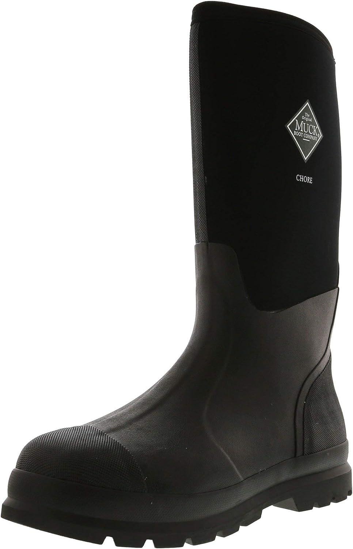 Muck Mens Chore Black Textile Boots 11 US