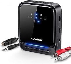 ELEGIANT Bluetooth 5.0 Transmitter Receiver Wireless Audio Adapter Low Latency Pair 2..
