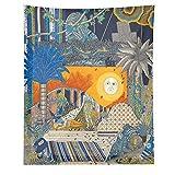 Mitología Europea Tapiz Tarot Bandera Adivinación Horóscopo Tarot Color Salón Pintura Colorido Surrealista Colgante de Pared