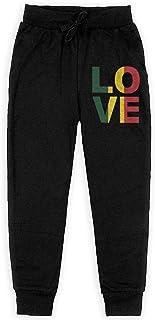 Yuanmeiju One Love, Rasta, Reggae Boys Pantalones Deportivos,Pantalones Deportivos for Teens Boys Girls