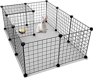 Balacoo Pet Playpen, Heavy Duty Dog playpen Outdoor Indoor, Portable Dog Fence for Rabbit Playpen Rabbit Cage Indoor Hamst...