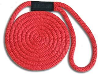 5/8 x 15' Red Solid Braid Nylon Dock Line - Made in USA